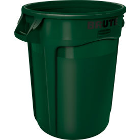 Rubbermaid Brute® Container w/ Venting Channels, 44 Gallon, Green - 1779741 - Pkg Qty 4