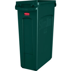 Rubbermaid Slim Jim Recycling Container, 16 Gallon, Green - 1955960 - Pkg Qty 4
