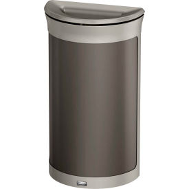 Rubbermaid Enhance™ Half Round Decorative Waste Container, 7.5 Gallon, Umbra Grey - 1969874