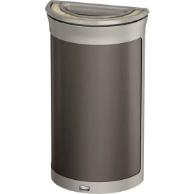 Rubbermaid Enhance™ Half Round Ash & Trash Container, 7.5 Gal., Umbra Grey  - 1969876