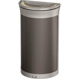 Rubbermaid Enhance™ Half Round Ash & Trash Container, 7.5 Gal., Umbra Grey  - 1969876