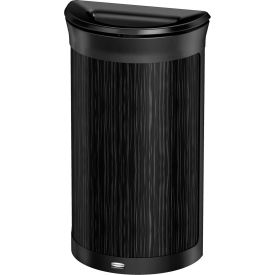Rubbermaid Enhance™ Half Round Decorative Waste Container, 7.5 Gallon, Ebony - 1970086