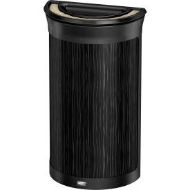 Rubbermaid Enhance™ Half Round Ash & Trash Container, 7.5 Gal., Ebony - 1970088