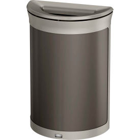 Rubbermaid Enhance™ Half Round Decorative Waste Container, 11.5 Gallon, Umbra Grey - 1970090