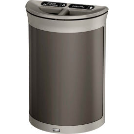 Rubbermaid Enhance™ Half Round Decorative Recycling Container, 11.5 Gal., Umbra Grey - 1970112