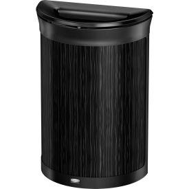 Rubbermaid Enhance™ Half Round Decorative Waste Container, 11.5 Gallon, Ebony - 1970119