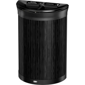 Rubbermaid Enhance™ Half Round Decorative Recycling Container, 11.5 Gallon, Ebony - 1970121