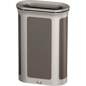 Rubbermaid Enhance™ Pill Shaped Decorative Waste Container, 13 Gallon, Umbra Grey - 1970122