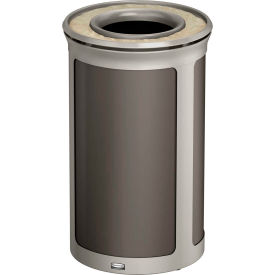Rubbermaid Enhance™ Round Ash & Trash Container, 15 Gal., Umbra Grey  - 1970152