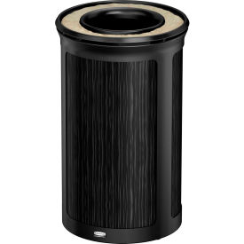Rubbermaid Enhance™ Round Ash & Trash Container, 15 Gal., Ebony - 1970164
