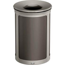 Rubbermaid Enhance™ Round Decorative Waste Container, 23 Gallon, Umbra Grey - 1970166