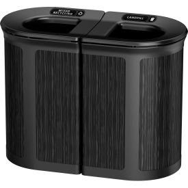 Rubbermaid Enhance™ Pill Shaped Decorative Recycling Container, 46 Gallon, Ebony - 1970207