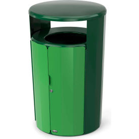 Rubbermaid Resist™ Fan Round Decorative Waste Container, 23 Gallon, May Green Gloss - 2006847