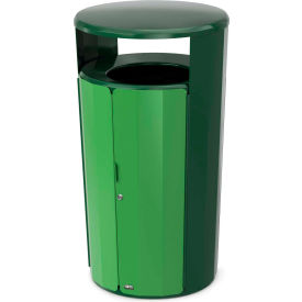 Rubbermaid Resist™ Fan Round Decorative Waste Container, 33 Gallon, May Green Gloss - 2006849