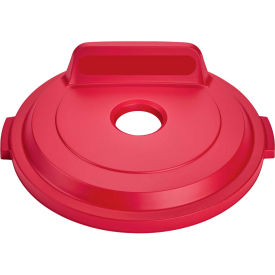 Rubbermaid Bottles & Cans Lid For 32 Gallon Brute Containers, Red - 2017740 - Pkg Qty 6