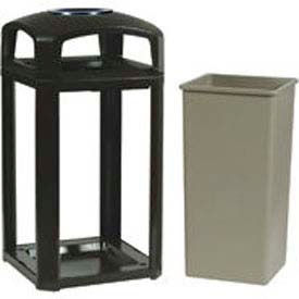Landmark Series® 50 Gal. Security Container W/ Lock And Clear Panels
