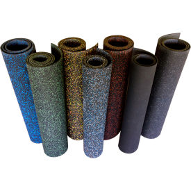 "Rubber-Cal ""Elephant Bark"" Rubber Flooring Rolls, 5mm THK x 4'W x 15'L, Green Dot"