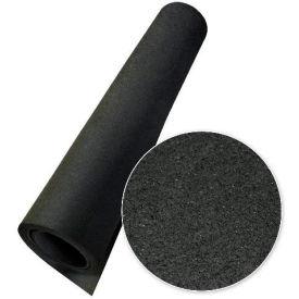 "Rubber-Cal ""Elephant Bark"" Rubber Flooring Rolls, 1/4""THK x 4'W x 3'L, All Black"