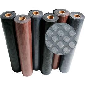 """Rubber-Cal """"Block-Grip"""" Rubber Runner Mat, 2mm THK x 4'W x 11'L, Brown"""