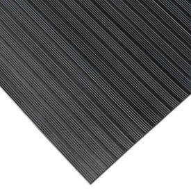 """Rubber-Cal """"Composite Rib"""" Corrugated Rubber Runners, 1/8""""THK x 4'W x 15'L, Black"""