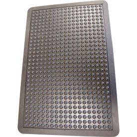 "Rubber-Cal ""Bubble-Top"" Anti Fatigue Floor Mat, 5/8-inch x 2ft x 3ft Rubber Floor Mat, Black"