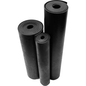 "Rubber-Cal ""Neoprene"" Commercial Grade 60A Rubber Sheet, 1/8""THK x 36""W x 16'L, Black"