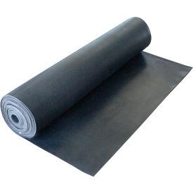 "Rubber-Cal ""Cloth Inserted SBR"" 70A - Rubber Sheet, 1/16""THK x 36""W x 10'L, Black"