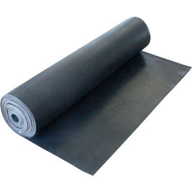 "Rubber-Cal ""Cloth Inserted SBR"" 70A - Rubber Sheet, 1/16""THK x 36""W x 22'L, Black"