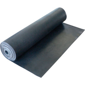"Rubber-Cal ""Cloth Inserted SBR"" 70A - Rubber Sheet, 3/16THK x 36""W x 18'L, Black"