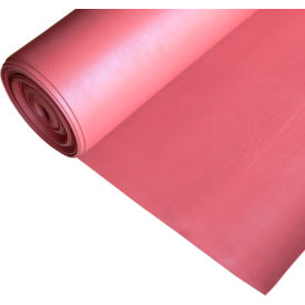 "Rubber-Cal ""SBR - Red"" 65A Rubber Sheet, 3/16""THK x 3'W x 20'L"