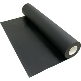 "Rubber-Cal ""Santoprene"" 60A Thermoplastic Sheets, 1/16""THK x 36""Wx 14', Black"