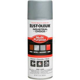 Rust-Oleum Industrial 1600 System Gen Purpose Enamel Aerosol, Dull Aluminum, 12 oz. - 1614830 - Pkg Qty 6