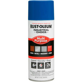 Rust-Oleum Industrial 1600 System General Purpose Enamel Aerosol, True Blue, 12 oz. - 1626830 - Pkg Qty 6