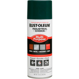 Rust-Oleum Industrial 1600 System General Purpose Enamel Aerosol, Hunter Green, 12 oz. - 1638830 - Pkg Qty 6