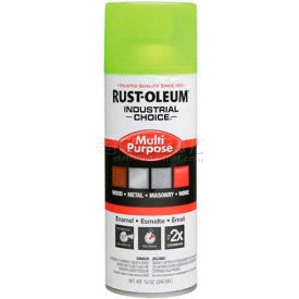 Rust-Oleum Industrial 1600 System Gen Purpose Enamel Aerosol, Fluorescent Yellow, 12 oz.- 1642830 - Pkg Qty 6