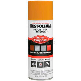 Rust-Oleum Industrial 1600 System Gen Purpose Enamel Aerosol, School Bus Yellow, 12 oz. - 1643830 - Pkg Qty 6