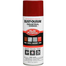 Rust-Oleum Industrial 1600 System General Purpose Enamel Aerosol, Cherry Red, 12 oz.- 1664830 - Pkg Qty 6