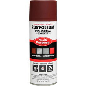 Rust-Oleum Industrial Choice 1600 System Gen Purpose Enamel Aerosol, Red Primer, 12 oz. - 1667830 - Pkg Qty 6