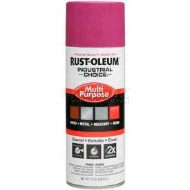 Rust-Oleum Industrial 1600 System General Purpose Enamel Aerosol, Safety Purple, 12 oz. - 1670830 - Pkg Qty 6