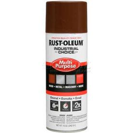 Rust-Oleum Industrial 1600 System General Purpose Enamel Aerosol, Leather Brown 16 oz. Can - 1674830 - Pkg Qty 6