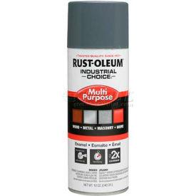 Rust-Oleum Industrial 1600 System General Purpose Enamel Aerosol, Universal Gray, 12 oz. - 1686830 - Pkg Qty 6