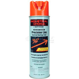 Rust-Oleum M1600 Solvent-Based -Line Inverted Marking Paint Aerosol, Alert Orange - Pkg Qty 12