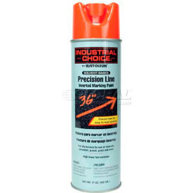 Rust-Oleum M1600 Solvent-Based Precision-Line Inverted Marking Paint Aero, Fluor Red-Org - Pkg Qty 12