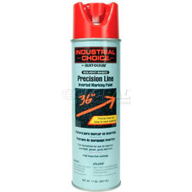 Rust-Oleum M1600 Solvent-Based Precision-Line Inverted Marking Paint Aerosol, Safety Red - Pkg Qty 12