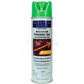 Rust-Oleum M1800 Water-Based Precision-Line Inverted Marking Paint Aerosol, Fluor. Green - Pkg Qty 12