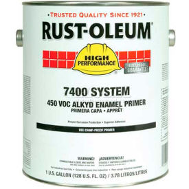 Rust-Oleum V7400 Series <340 VOC Alkyd Enamel Primer, Red High Solids Quick Dry Gallon Can - 2068402 - Pkg Qty 2