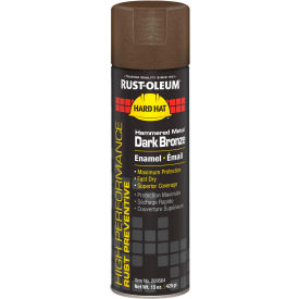 Rust-Oleum High Performance V2100 System Hammered Aerosol, Metal Dark Bronze, 15 oz. - 209564 - Pkg Qty 6