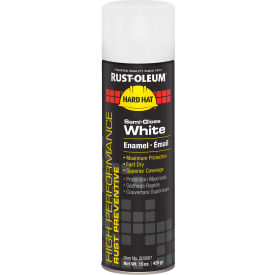 Rust-Oleum High Performance V2100 Rust Preventive Enamel Aerosol, Semi-Gloss White, 15 oz.- 209567 - Pkg Qty 6