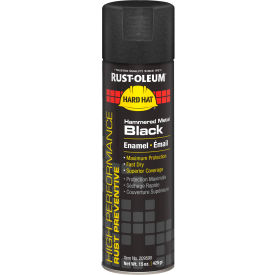 Rust-Oleum High Performance V2100 System Hammered Aerosol, Metal Black, 15 oz. - 209590 - Pkg Qty 6