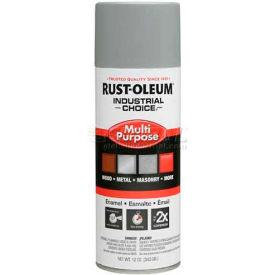 Rust-Oleum Industrial 1600 System Gen Purpose Enamel Aerosol, Ansi 61 Light Gray, 12 oz. - 214645 - Pkg Qty 6